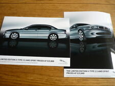 JAGUAR LTD EDITION X-TYPE 2.5 AND AWD SPIRIT PRESS PHOTO 'SALES BROCHURE' 2 OF