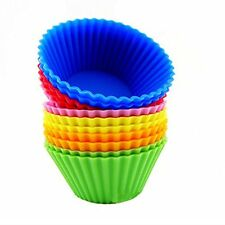US Vintage Fine-12pcs Silicone Baking Cups Cupcake Muffin Liners Reusable Molds