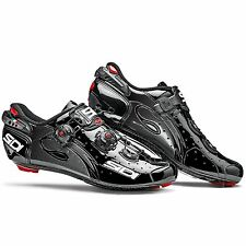 Sidi Wire Carbon Vernice Road Bike/Cycling Shoes - Black/Black - UK 9 / Euro 43