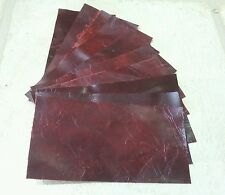 RED Vintage Aged Real Leather offcuts You get 10 pieces15cm x 7.5cm 1.5mm thick