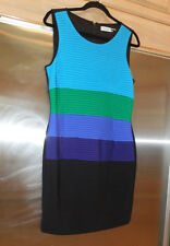 Calvin Klein ribbed Sleeveless Dress Sz 10 mardi Gras holiday any occasion NWOT
