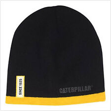 CAT CATERPILLAR *BLACK & YELLOW Since 1925 BEANIE* TRADEMARK LOGO* NEW* CA23
