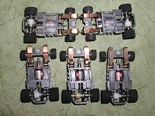 TYCO INDY FORMULA 440X2 NARROW BODY CHASSIS LOT 5 QUANITY