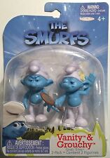 """""""New"""" THE SMURFS Figure 2 Pack- Includes Vanity Smurf and Grouchy Smurf"""