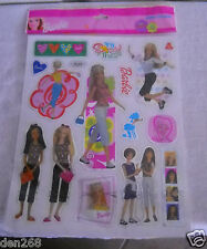#487 NIP Barbie Lazer Stickers 1 Sheet