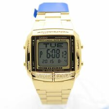 Casio DB-360G-9A Digital Stainless Steel Gold Plated Casual Watch DB-360G-9ADF