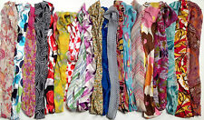 JOB LOT OF 20 VINTAGE MIXED FABRIC HEADSCARVES. MIX OF COLOURS, FABRICS & STYLES
