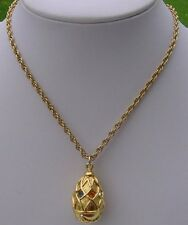 Joan Rivers Faberge Egg Necklace and Chain