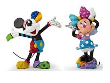 ROMERO BRITTO DISNEY MINI FIGURINES: MICKEY MOUSE & MINNIE  * NEW * GIFT BOXES