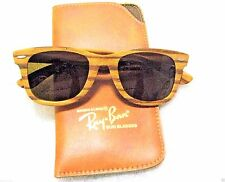 "VINTAGE *Nr.MINT RAY-BAN B&L *LIMITED WAYFARER RARE ""WOODY"" BEACHWOOD SUNGLASSES"