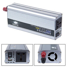 Newly DC 12V to AC 220V Portable Car Power Inverter Charger Converter 1500W WATT