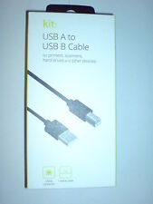 USB A TO USB B 1 METRE CABLE KIT NEW