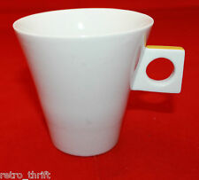 Nescafe Dolce Gusto White Cappuccino Cup Only No Saucer Mustard Yellow AS-IS