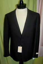NWT CORNELIANI mens black 100% virgin wool blazer 50R 40R ITALY
