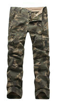 NEW MENS FOXJEANS CAUSAL CAMO MILITARY PANTS ARMY CARGO WORK  TROUSERS 36