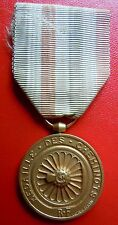 MEDAILLE DES CHEMINOTS FRANCE attribuée 1952 ORIGINAL train rail sncf