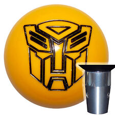 Transformers Autobot Yellow Non Threaded Shift Knob Kit U.S. Made