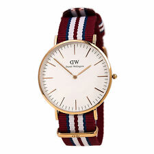 Daniel Wellington 0112DW Men's Rose Gold Steel Nylon Strap Watch