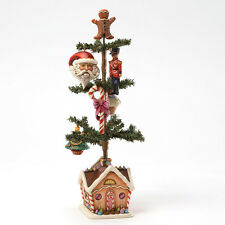 Jim Shore Tabletop Christmas Tree w/5 Ornaments & Gingerbread House Base 4032480