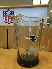 New England Patriots NFL Glass Beer Pitcher