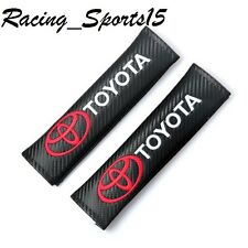 TOYOTA Carbon Fiber Leather Seat Belt Cover Shoulder Pads X2 CAMRY COROLLA AE86