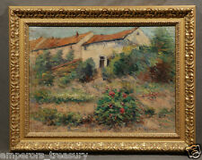 Impressionistic Garden Landscape Oil Painting signed Victor Charreton (FRENCH)