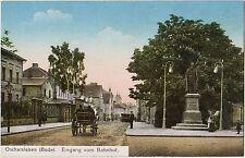 Oschersleben (Bode) im Kreis Börde Eingang vom Bahnhof Ansichtskarte 1905