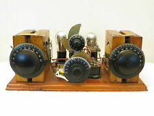 VINTAGE 1920s NEW YORK COIL CO. ANTIQUE 2 TUBE BREADBOARD TYPE RADIO APPARATUS