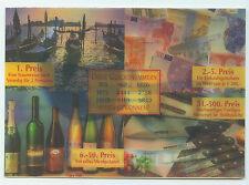 3D Ansichtskarte Postkarte Reklame Gewinnspiel Weinhaus