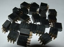 25x Samtec SSW-103-01-GD 2x3 6 way pcb mount socket receptacal double row 2.54mm