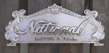 "TOP SIGN CASH REGISTER ""NATIONAL"" 313 SIZE  8 1/8"" C-C HOLES RED BRASS"