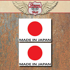 Made in Japan Laminated Stickers 2x 100x72mm Car Motorbike JDM Japanese Decal