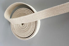 "25mm 1"" Natural /Beige 100% Cotton CANVAS webbing strap tape Upholstery @ 2 Yard"