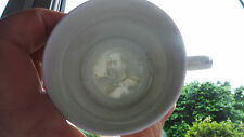 LOVELY VINTAGE WHITE CUP WITH LITHOPHANE OF EDWARD VII IN BOTTOM & COAT OF ARMS