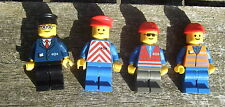 *LEGO TRAIN MINIFIGURES:4 RAILWAY WORKERS