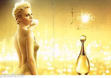 PUBLICITE ADVERTISING 065  2014  DIOR  parfum & CHARLIZE THERON  (2p) J'ADORE