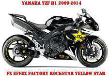 FX EFFEX FACTORY DEKOR GRAPHIC KIT YAMAHA YZF R1 & R6 ROCKSTAR YELLOW STAR B