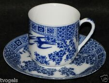 Antique Nippon Japan Porcelain  China Demitasse Teacup/Saucer Lithophane Geisha