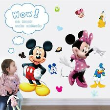 Mickey Minnie Mouse Removable Wall Sticker PVC Mural Decals Kids Room Decor sup