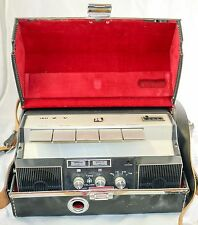 Vtg 60s AKAI X-V Reel to Reel Portable Tape Recorder w Leather Case -Mad Men