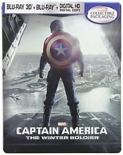 Captain America: The Winter Soldier Steelbook 3D (Blu-Ray 3D + Blu-Ray) NEW