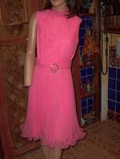 VINTAGE JACK BRYAN DRESS, BUBBLE GUM, SIZE 14