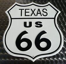 Route US 66 Texas - Schild Blechschild Blechreklame 30 x 30 cm - 176