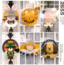 McCall's 2655 OOP ANIMAL PALS STRAW HAT WREATHS Pattern