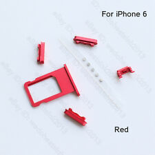 Red Power, Volume and Mute Buttons & SIM Tray Slot Replacement Kits For iPhone 6