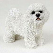 BICHON FRISE DOG Figurine Statue Hand Painted Resin Gift Pet Lovers Tan