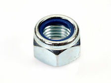 Qty 100 M3 Zinc Plated Hex Nyloc Nut 3mm Nylon Insert Lock Nuts
