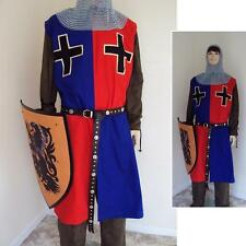 Medieval Knights Surcoat Red & Blue For Stage Costume, LARP or Re-enactment