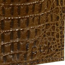 FCUK Croc Eff Mens Bi-Fold Brown Leather Wallet BNWT Free P&P French Connection