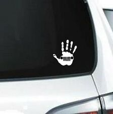 B232 Jeep Handprint Wrangler ride Jeep  vinyl decal for car truck